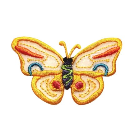 ID 2091 Rainbow Lace Butterfly Patch Garden Insect Embroidered Iron On Applique (Rainbow Lace)