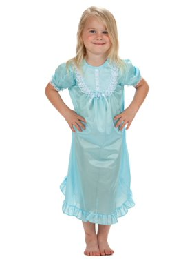 cd08700257 Laura Dare Solid Colors Short Sleeve Traditional Nightgown for Girls