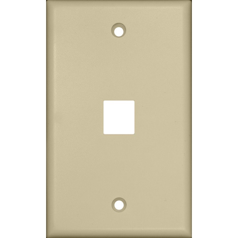 Morris Products One Port Wall Plate in Ivory (Set of 4)