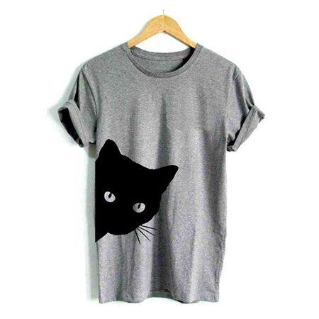 Women Summer Fashion Cat Print (20s Women's Fashion)