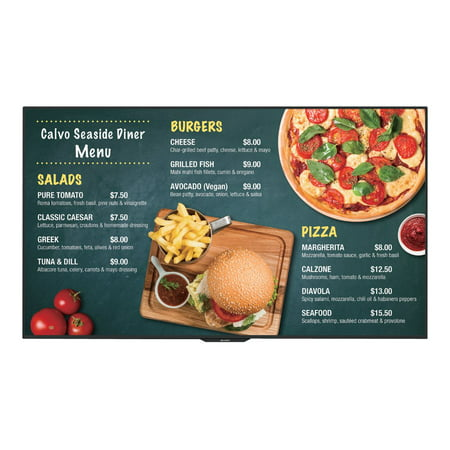 "Sharp PN-UH501 - 50"" Class (49.5"" viewable) LED display - with TV tuner - digital signage - 4K UHD (2160p) 3840 x 2160 - direct-lit LED"