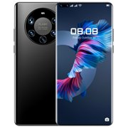Mate40pro+ Mobile Phone High-definition 7.3-inch Large-screen 12gb+512gb Smartphone color:black specification:UK plug