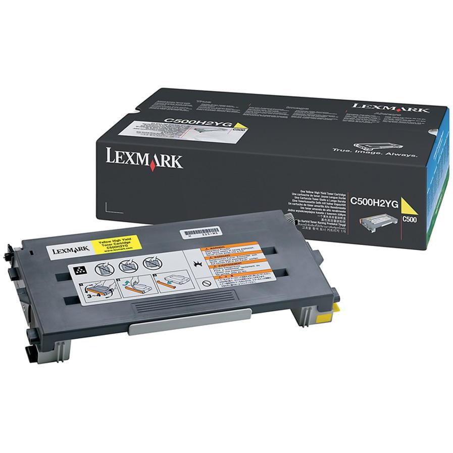 Lexmark, LEXC500H2YG, C500H2 Series Toner Cartridges, 1 Each