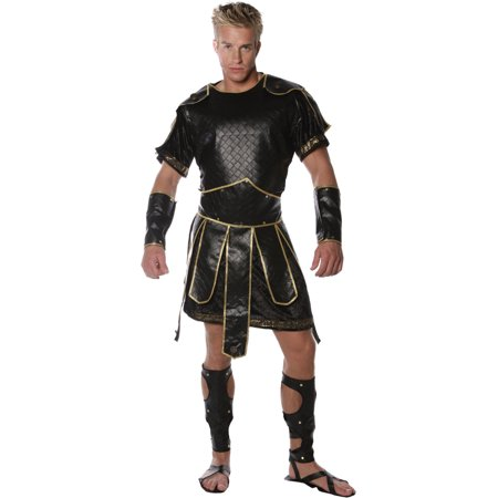 - Mens Spartan Solider Costume 5 Piece Set Texture Faux Leather Spartan Fighter