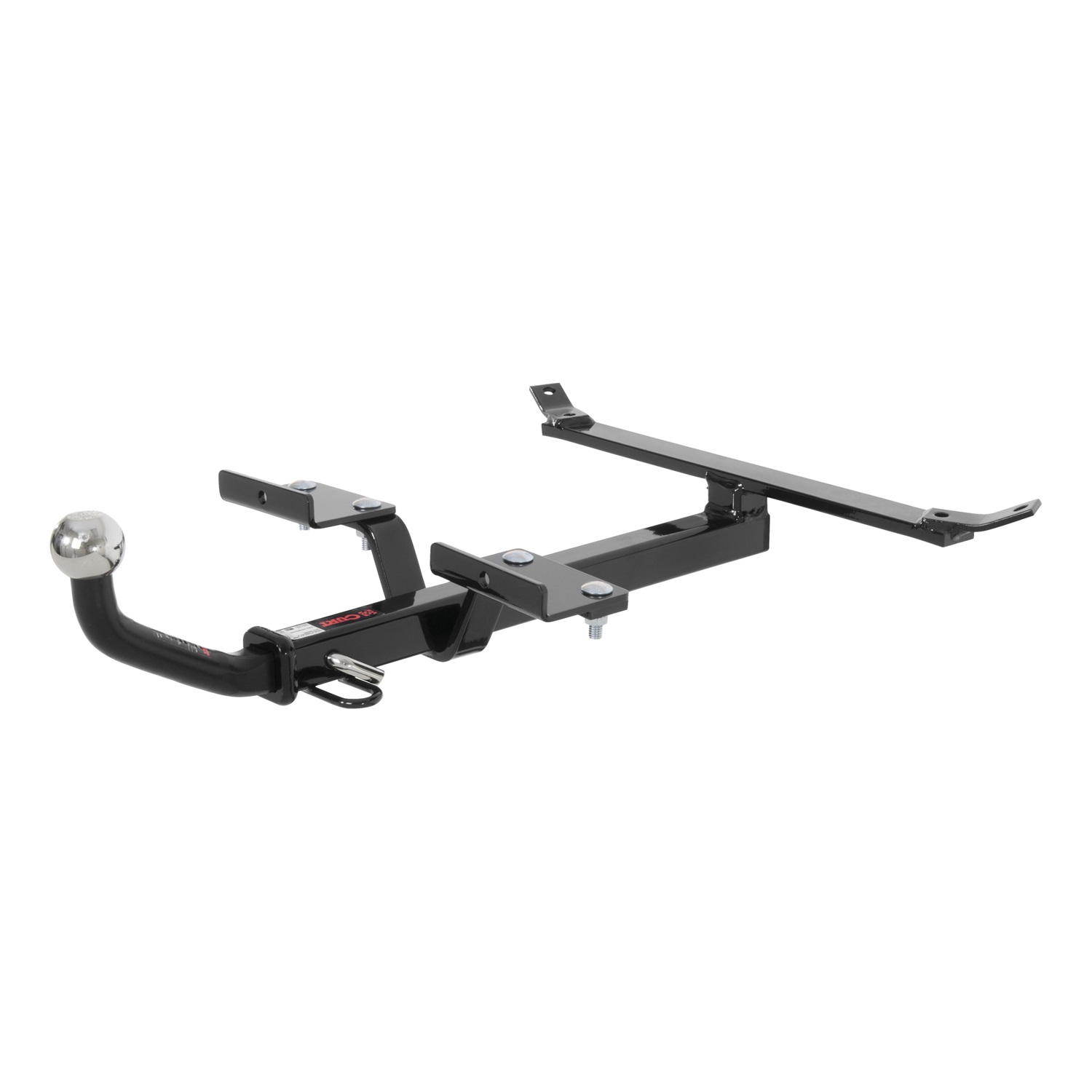 """CURT Class 1 Hitch, includes 1-7/8"""" Euro Mount, installation hardware, pin & clip"""