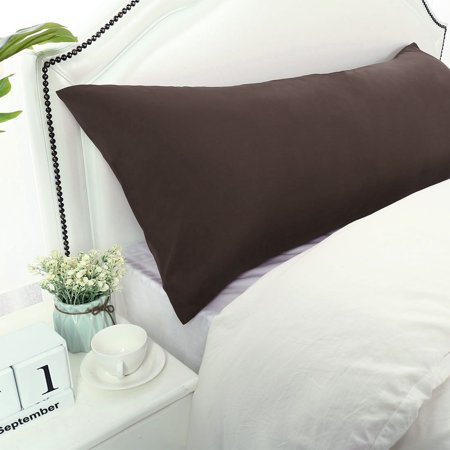 """Body Pillow Case Microfiber Long Bedding Covers Body Pillow Cover Brown 20""""x54"""" - image 6 of 7"""