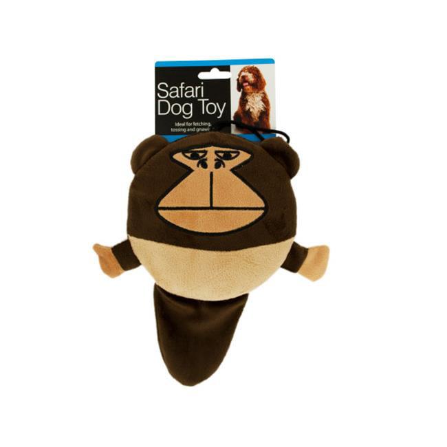 Bulk Buys OL387-4 Safari Dog Squeak Toy, 4 Piece