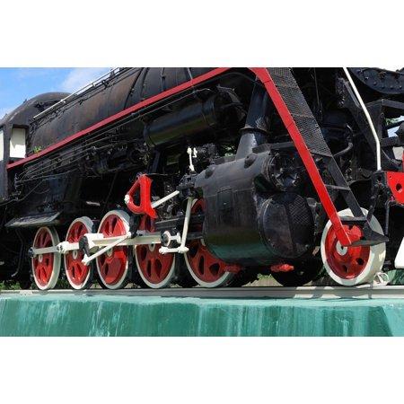 Canvas Print Locomotive Engine Vintage Steam Railways Train Stretched Canvas 10 x