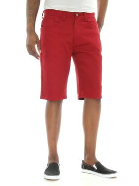 Akademiks Men's Shady Straight Leg Stretch Twill Shorts
