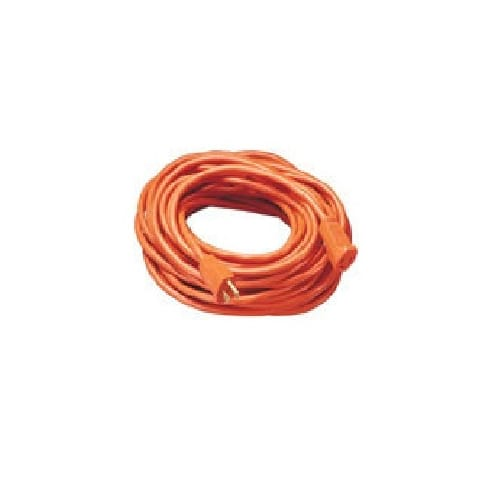 Coleman Cable 02209 16 2 Vinyl Outdoor Extension Cord, Orange, 100' by Coleman Cable