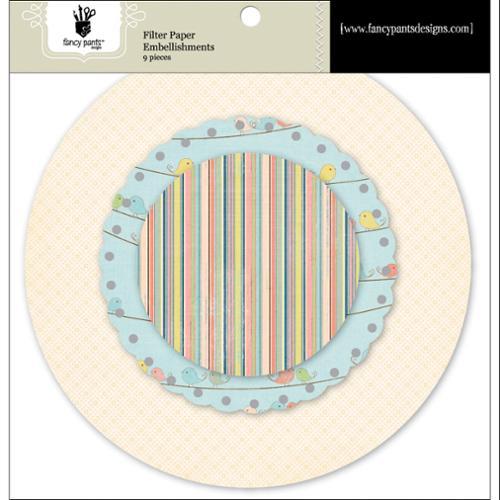 Baby Mine Filter Paper Embellishments 9/Pkg-Scallop