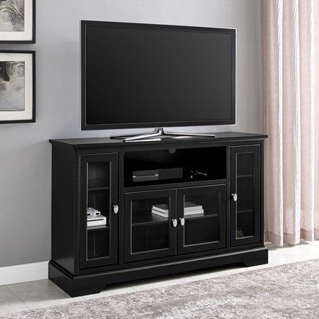 Walker Edison Highboy-Style Wood Media Storage TV Stand Console for TVs up to 55