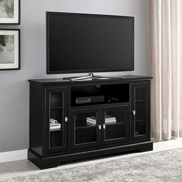 Walker Edison Highboy-Style Wood Media Storage TV Stand Console