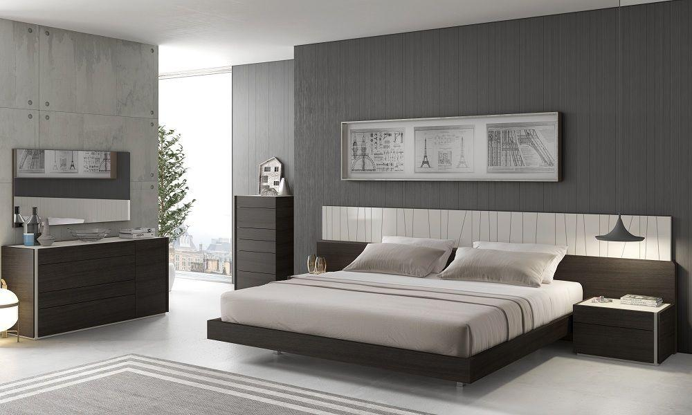 Modern Light Grey Lacquer Wenge Veneer King Size Bedroom Set 3pcs J M Porto Walmart Com Walmart Com