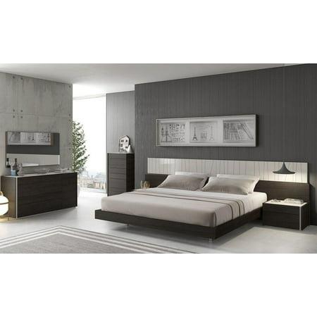 Modern Light Grey Lacquer & Wenge Veneer King Size Bedroom ...