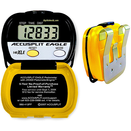 Accusplit AE140XLE Pedometer, Yellow/Black