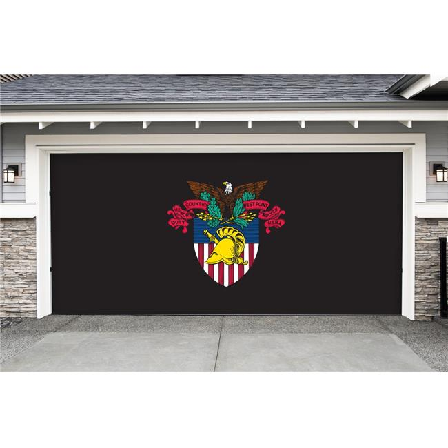 Victory Corps 810034WPCR-002 7 x 16 ft. NCAA Double Garage Door Decor Army West Point No.002 by Victory Corps