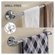 HotelSpa® Insta-Mount Bathroom Accessories 2 Piece Value Set (18-inch and 24-inch Towel Bars)