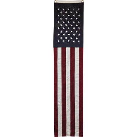 4e2a605f2cde Long Slim American Flag Banner Embroidered Stars Country Primitive Patriotic  DÃƒÆ Ã†â€™Ãƒâ€šÃ'©cor - Walmart.com