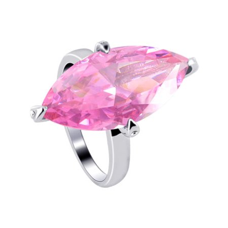 Pink Marquis (Gem Avenue 925 Sterling Silver Marquise Shape Cubic Zirconia Solitaire)