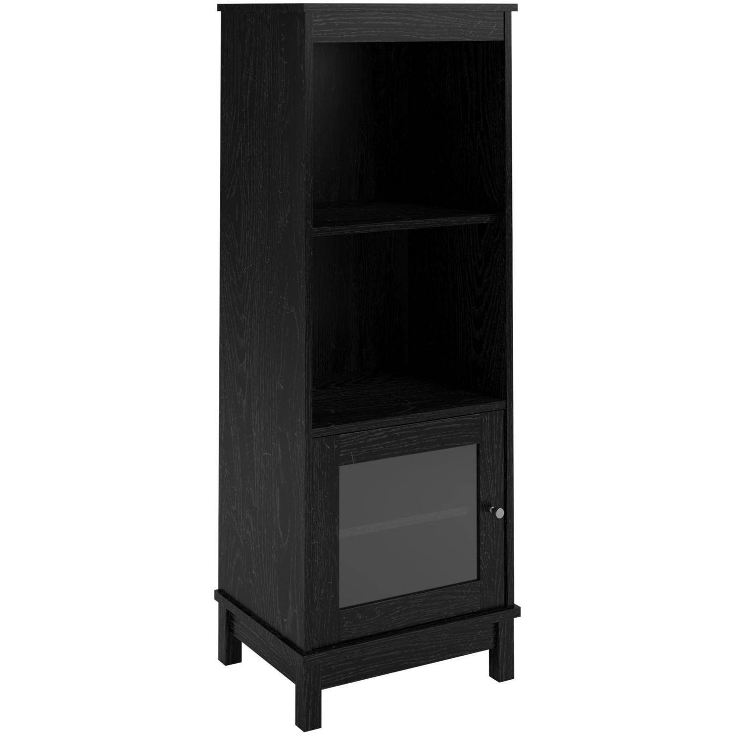 Mainstays media storage bookcase multiple finishes walmart eventelaan Image collections