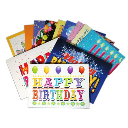 Envelope Box Set (Birthday Card Assorted Pack - Set of 24 Cards & Envelopes - Boxed Birthday Cards With  Blank)