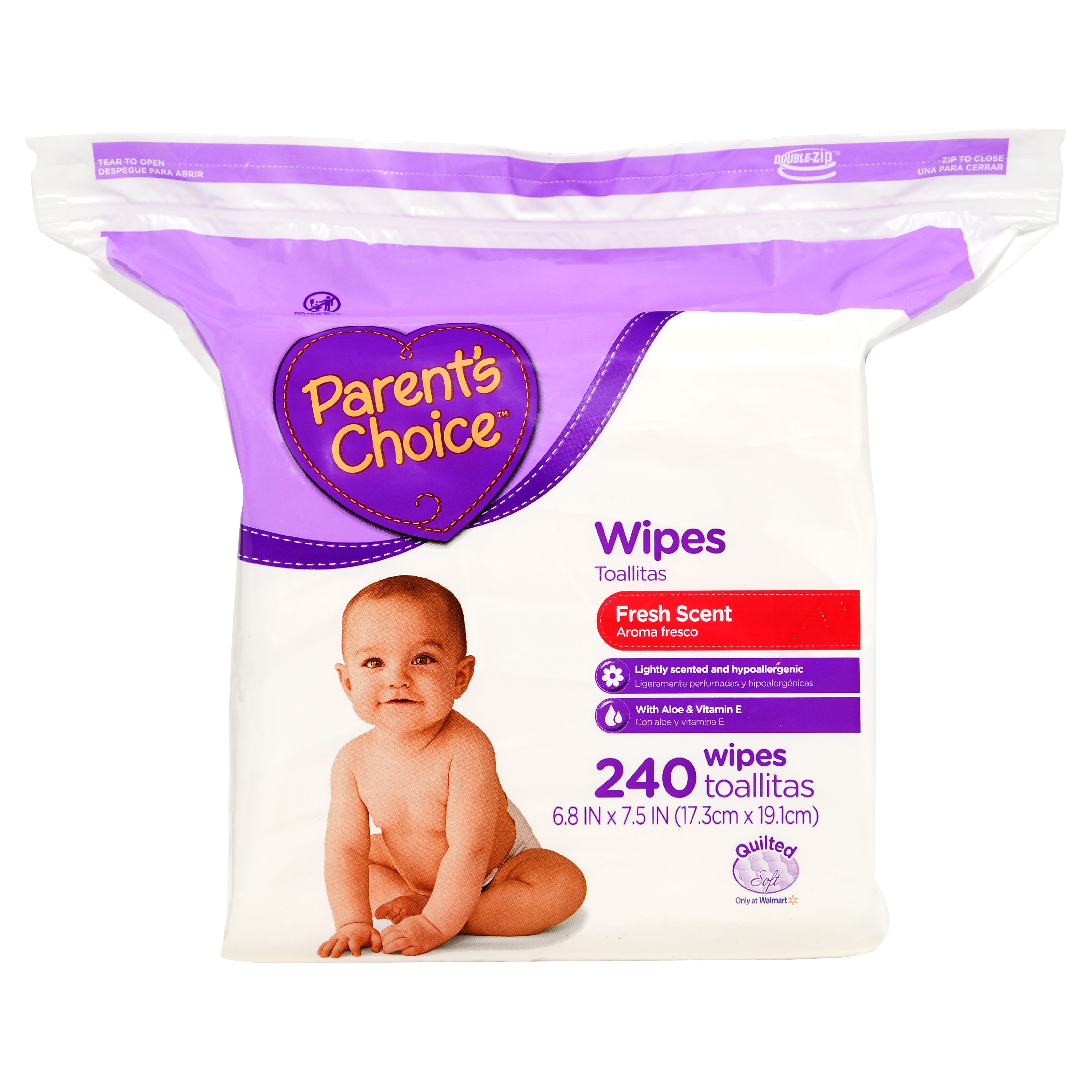 Parent's Choice Fresh Scent Baby Wipes (240 count)
