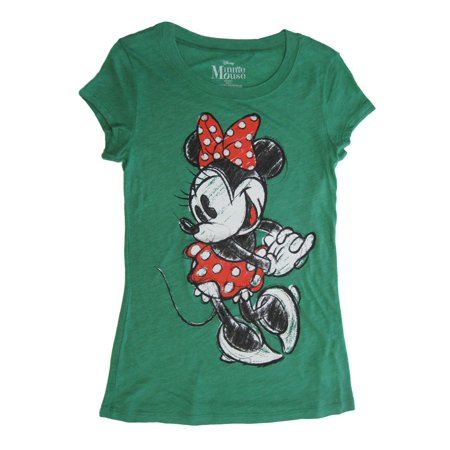 Disney Disney Womens Green Disney Short Sleeve Minnie Mouse Shirt