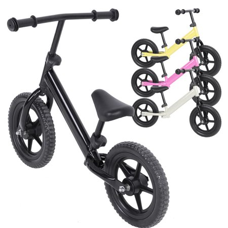 WALFRONT Balance for Bike Kids Toddlers Girl Boys, 4 Colors 12inch Wheel Carbon Steel Kids Balance Traning Bike Bicycle Children No-Pedal Bike Super Light for Easy Control(Black, Silver, Pink, - Fizik Carbon Bicycle