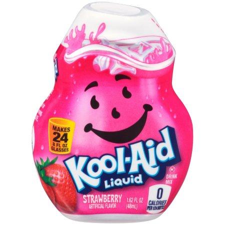 (12 Pack) Kool-Aid Strawberry Liquid Drink Mix, 1.62 fl oz Bottle