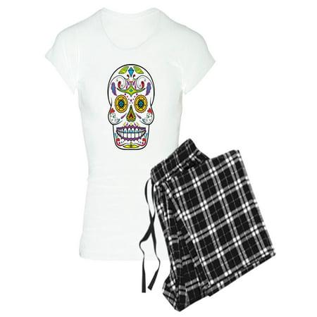 23e2e0c15d CafePress - CafePress - Sugar Skull Pajamas - Women s Light Pajamas -  Walmart.com