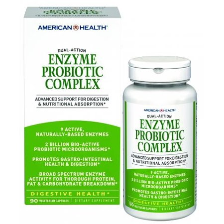 Probiotic Complex - American Health Enzyme Probiotic Complex Capsules, Vegetarian, 90 Ct