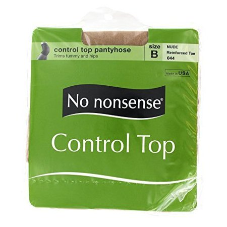 40a32decd686d No nonsense - No Nonsense Women's Control Top Reinforced Toe Pantyhose,  Nude, B - Walmart.com