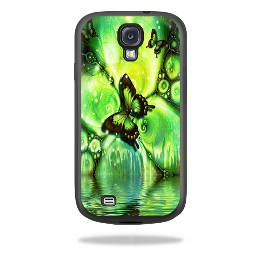 Mightyskins Protective Vinyl Skin Decal Cover for Belkin Grip Sheer Samsung Galaxy S4 Case wrap sticker skins Mystical Butterfly