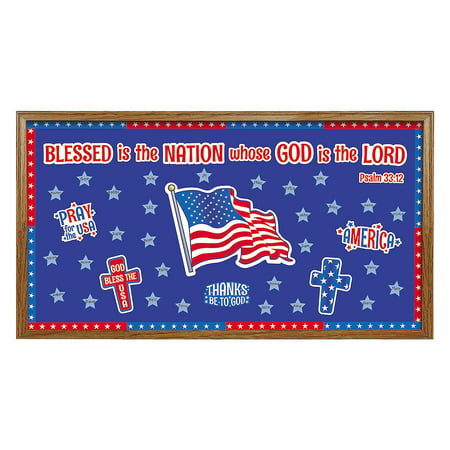 Fun Express - Patriotic Faith Bb Set for Fourth of July - Educational - Classroom Decorations - Bulletin Board Decor - Fourth of July - 71 Pieces](Decorating Classroom)