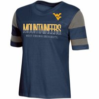 Women's Russell Athletic Navy West Virginia Mountaineers Boxy T-Shirt