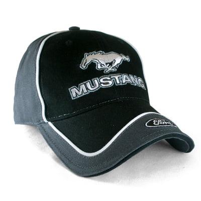 Ford Mustang Pony Black & Gray Baseball Hat
