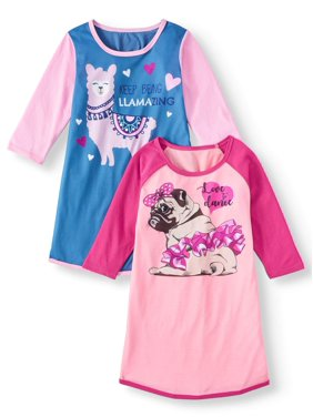 Chili Peppers Raglan Nightgowns, 2Pk (Toddler Girls)