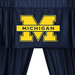 NCAA Michigan Wolverines 5pc Curtains and Valance Set