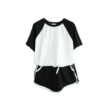 VICOODA Women Casual 2 Piece Outfit Short Sleeve T-Shirts Shorts Set](Outfits Womens)