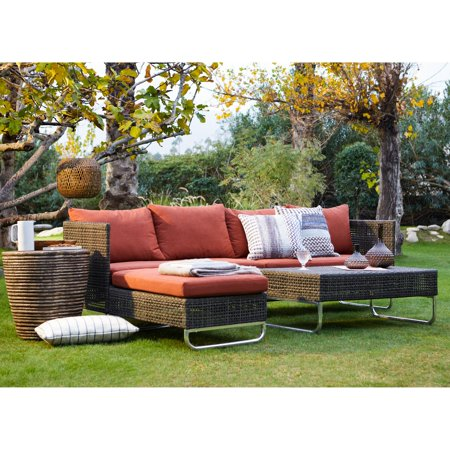 Coral Coast All Weather Wicker Outdoor Sectional Set Now $599.99 (Was $777)