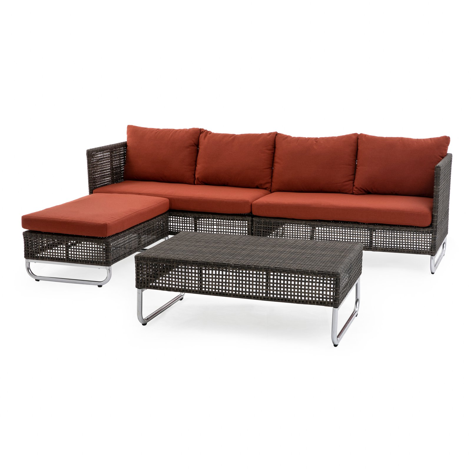 Coral Coast Maryana All Weather Wicker Open Weave Outdoor Sectional Set