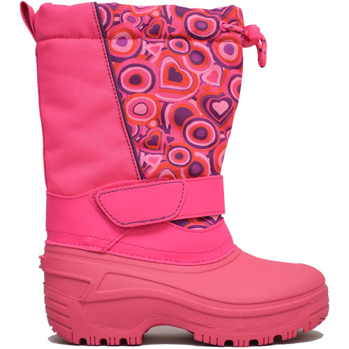 Girls' Leanne Pink Flower Patterned Winter Boot Temp Rated -22F
