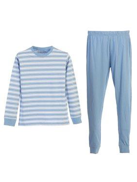 Gioberti 2 Piece Boys Knit Stripe Pajama Set