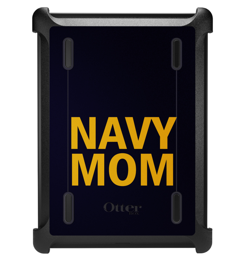 CUSTOM Black OtterBox Defender Series Case for Apple iPad Air 1 (2013 Model) - Yellow Navy Mom