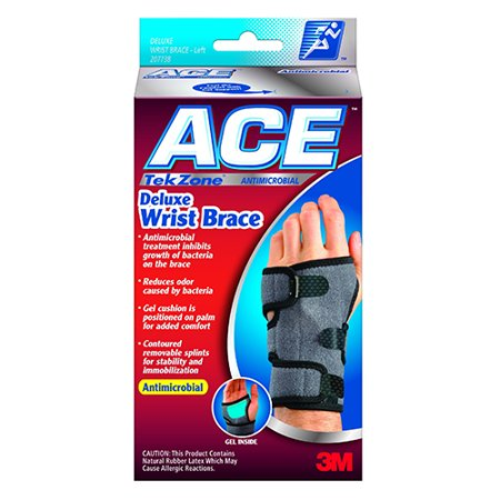 17a27a4478 Becton Dickinson ACE TekZone Antimicrobial Deluxe Wrist Brace, 1 ea -  Walmart.com