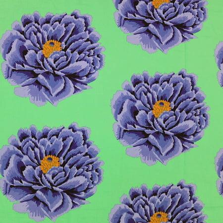 Free Spirit Kaffe Fassett 108 Inch Wide Quilt Back Sateen Blue Full Blown - Kaffe Fassett Quilts