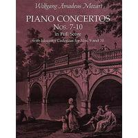 Dover Music Scores: Piano Concertos Nos. 7-10 in Full Score: With Mozart's Cadenzas (Paperback)