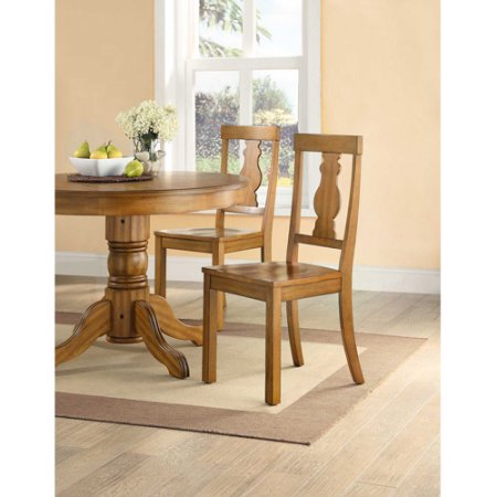 Better Homes and Gardens Cambridge Place Dining Chairs, Set of 2, Honey by