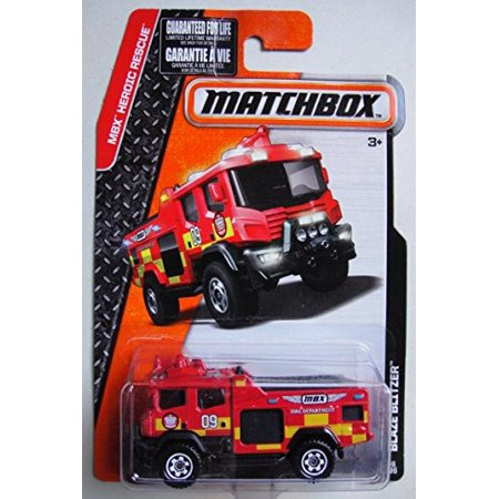 2015 MBX Heroic Rescue Blaze Blitzer Fire Engine 66/120, Red, 1:64 scaled die-cast fire engine. By Matchbox